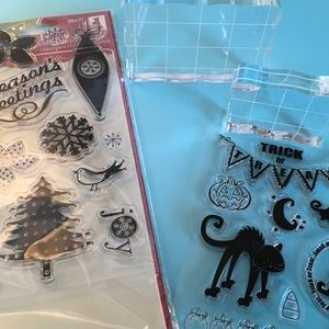 CLEAR HOLIDAY STAMPS FOR CRAFTS